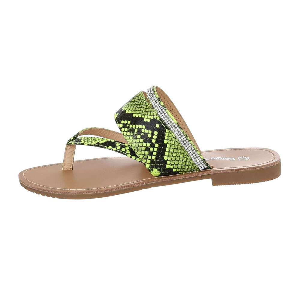 Sandale plate pentru femei - galbene