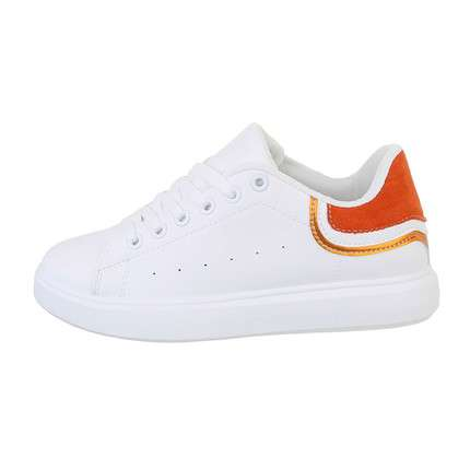 Damen Low-Sneakers - orange