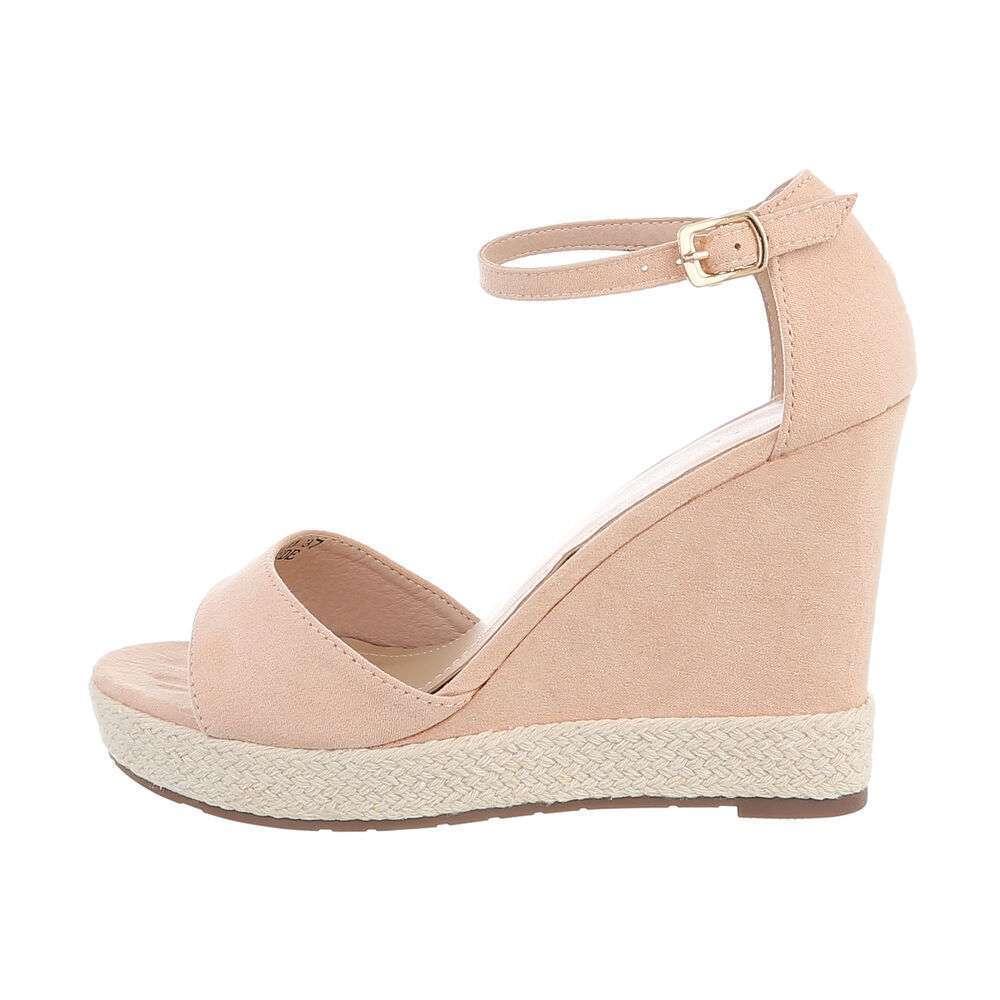 Sandale cu platformă pentru femei - nud