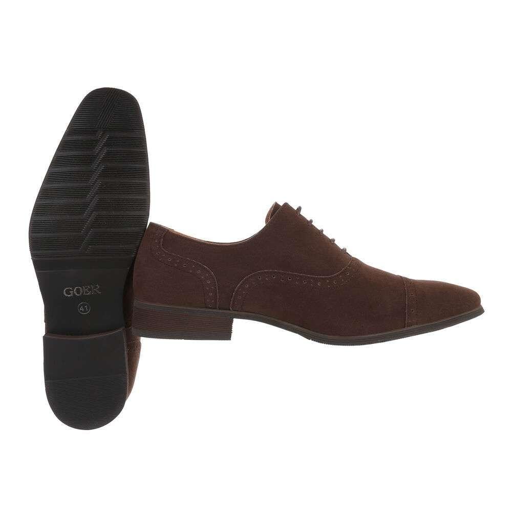 Pantofi de afaceri pentru bărbați - maro - image 2