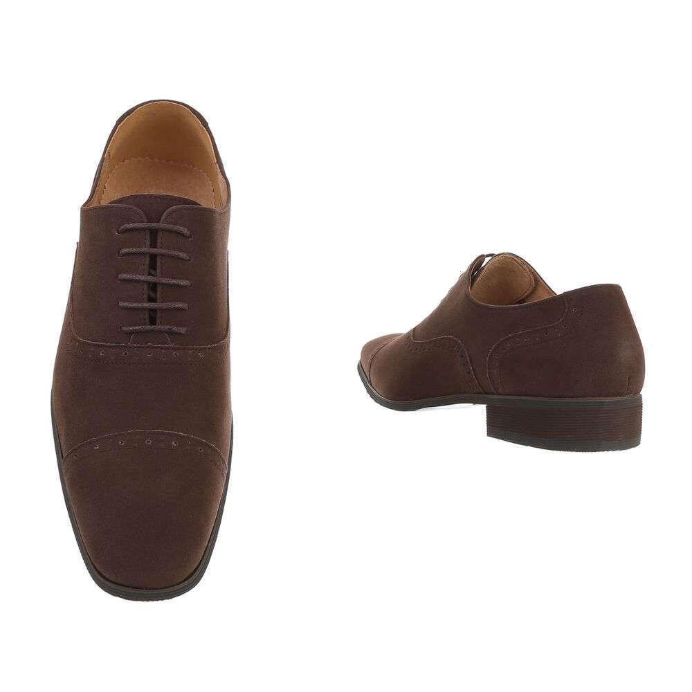 Pantofi de afaceri pentru bărbați - maro - image 3