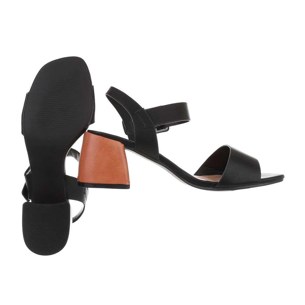 Sandale de dama - negre - image 2