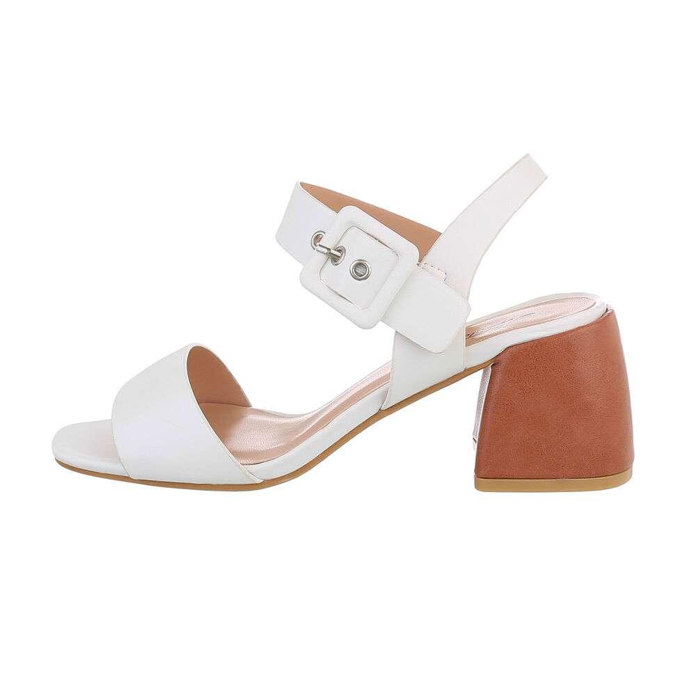 Sandale de dama - albe