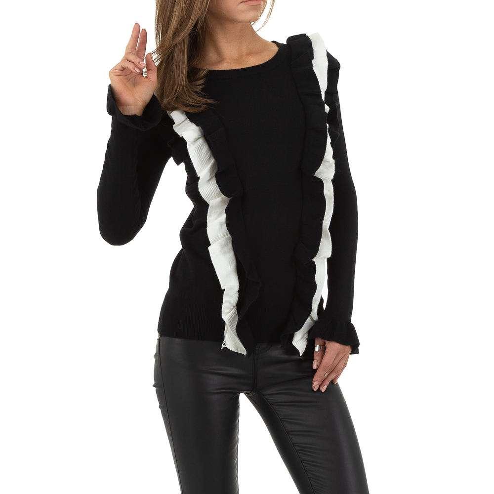 Pulover pentru femei de SHK Paris Gr. O singură mărime - alb-negru