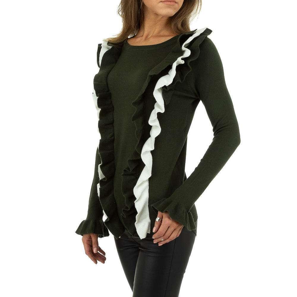 Pulover pentru femei de SHK Paris Gr. O mărime - alb verde - image 2