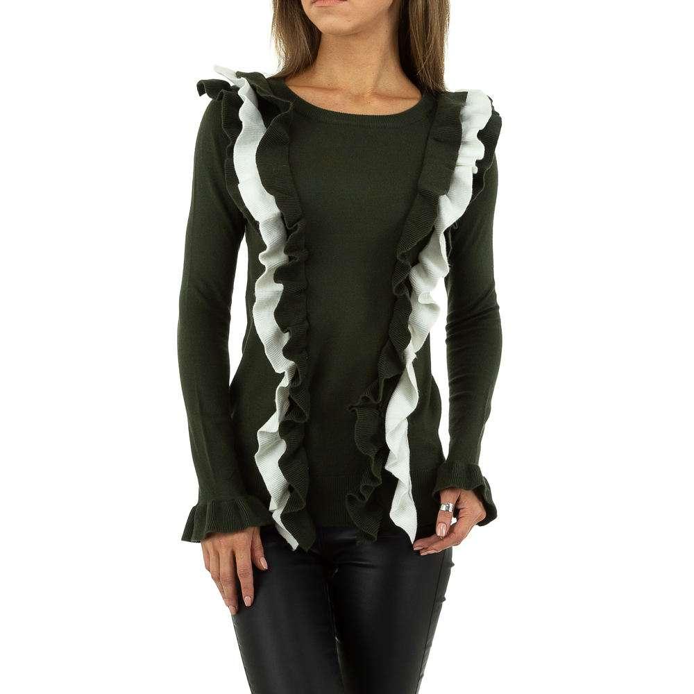 Pulover pentru femei de SHK Paris Gr. O mărime - alb verde - image 4