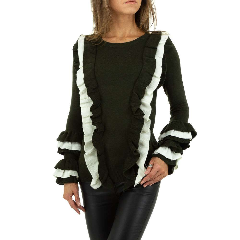 Pulover pentru femei de SHK Paris Gr. O mărime - alb verde - image 1