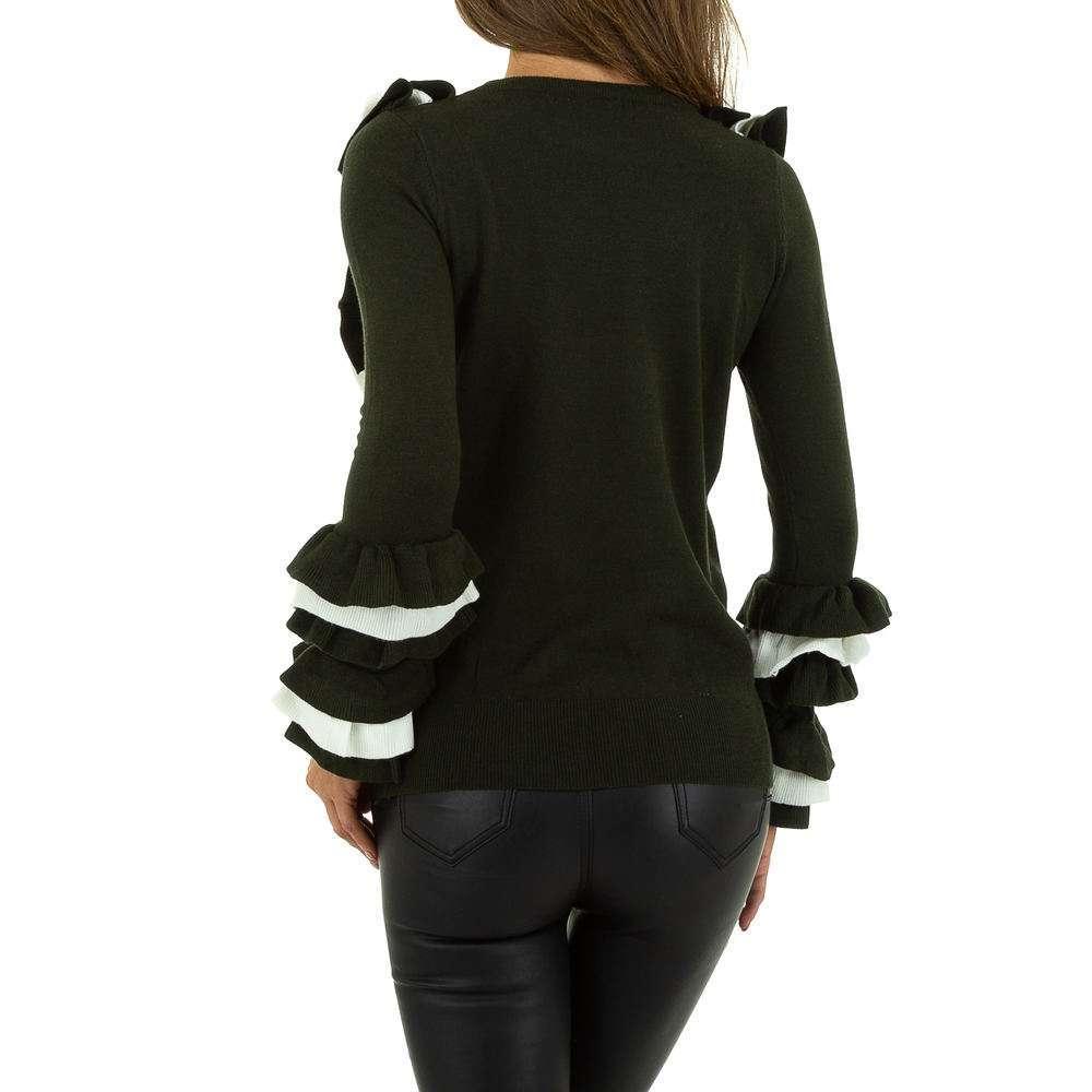 Pulover pentru femei de SHK Paris Gr. O mărime - alb verde - image 3