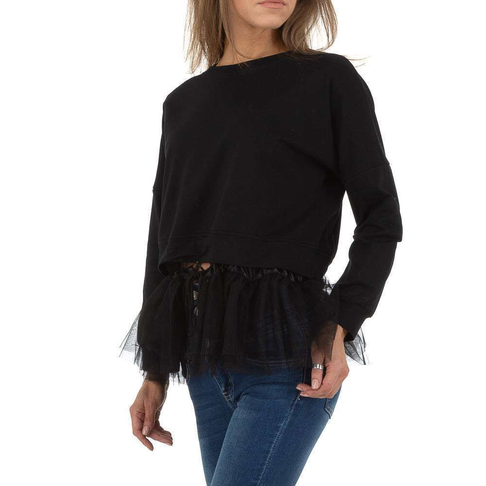 Hanorac pentru femei de SHK Paris - negru - image 2