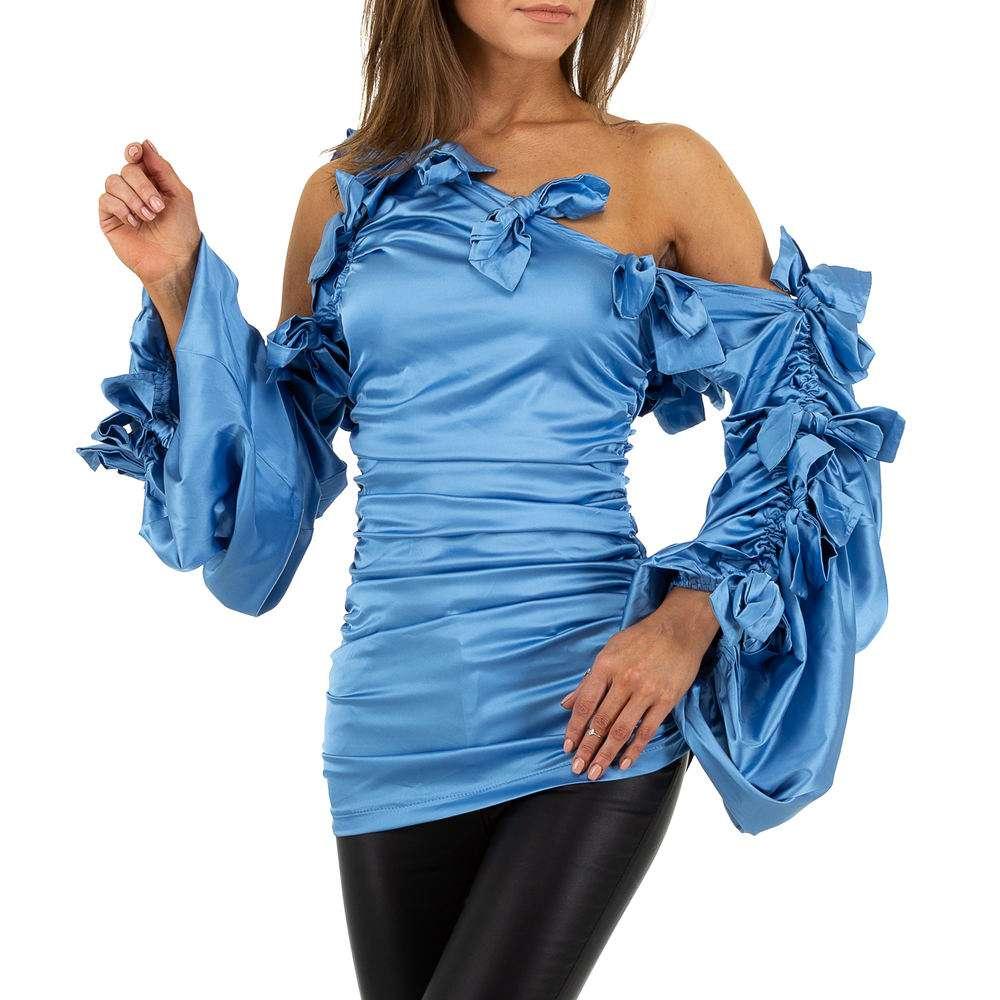 Bluză lungă pentru femei de SHK Paris - albastră