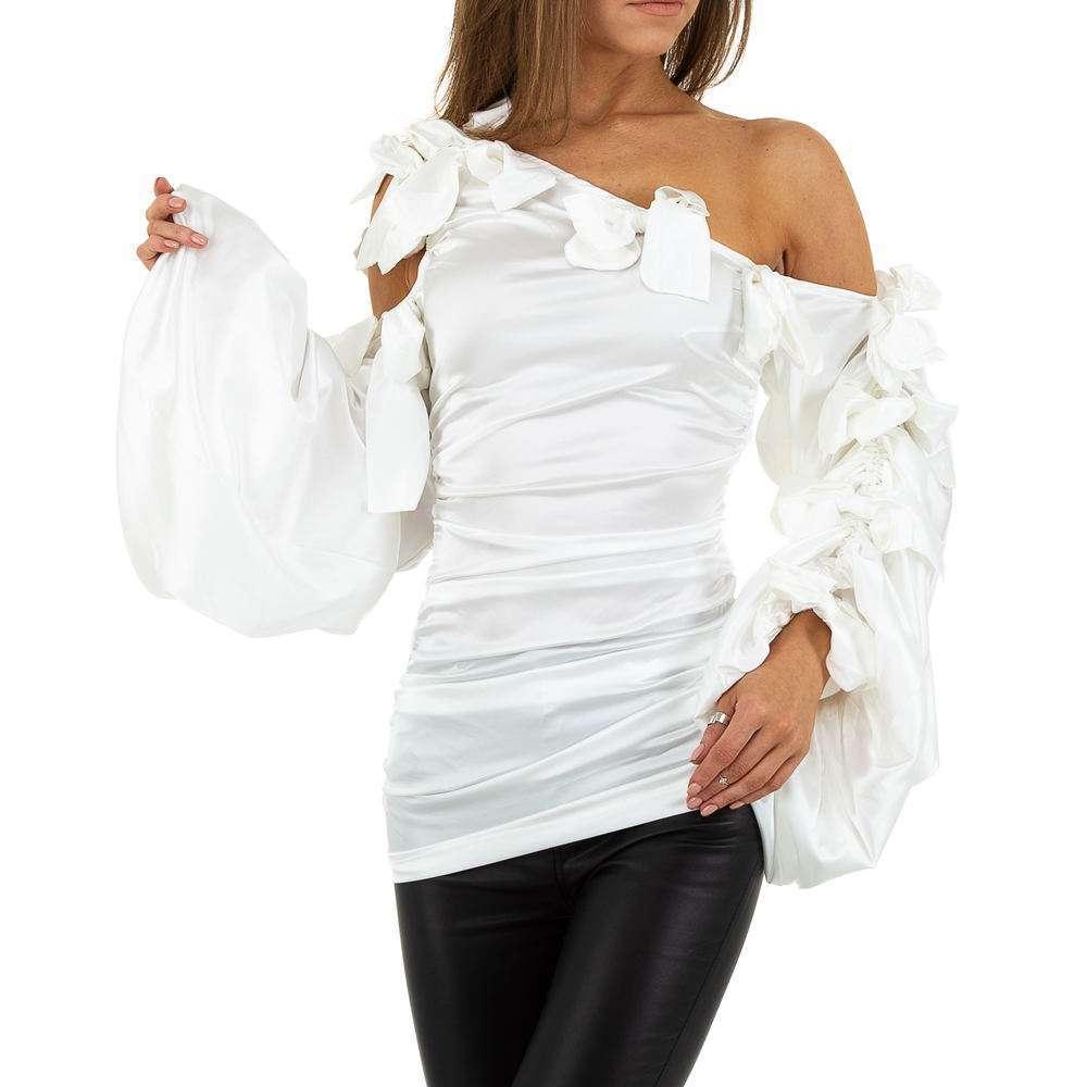 Bluză lungă pentru femei de SHK Paris - albă