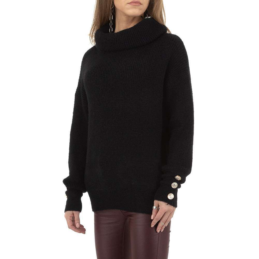 Pulover de dama de Voyelles Gr. O singură mărime - negru - image 2