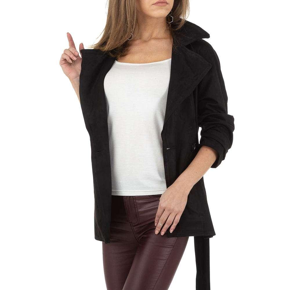 Palton de dama de Voyelles - negru - image 4