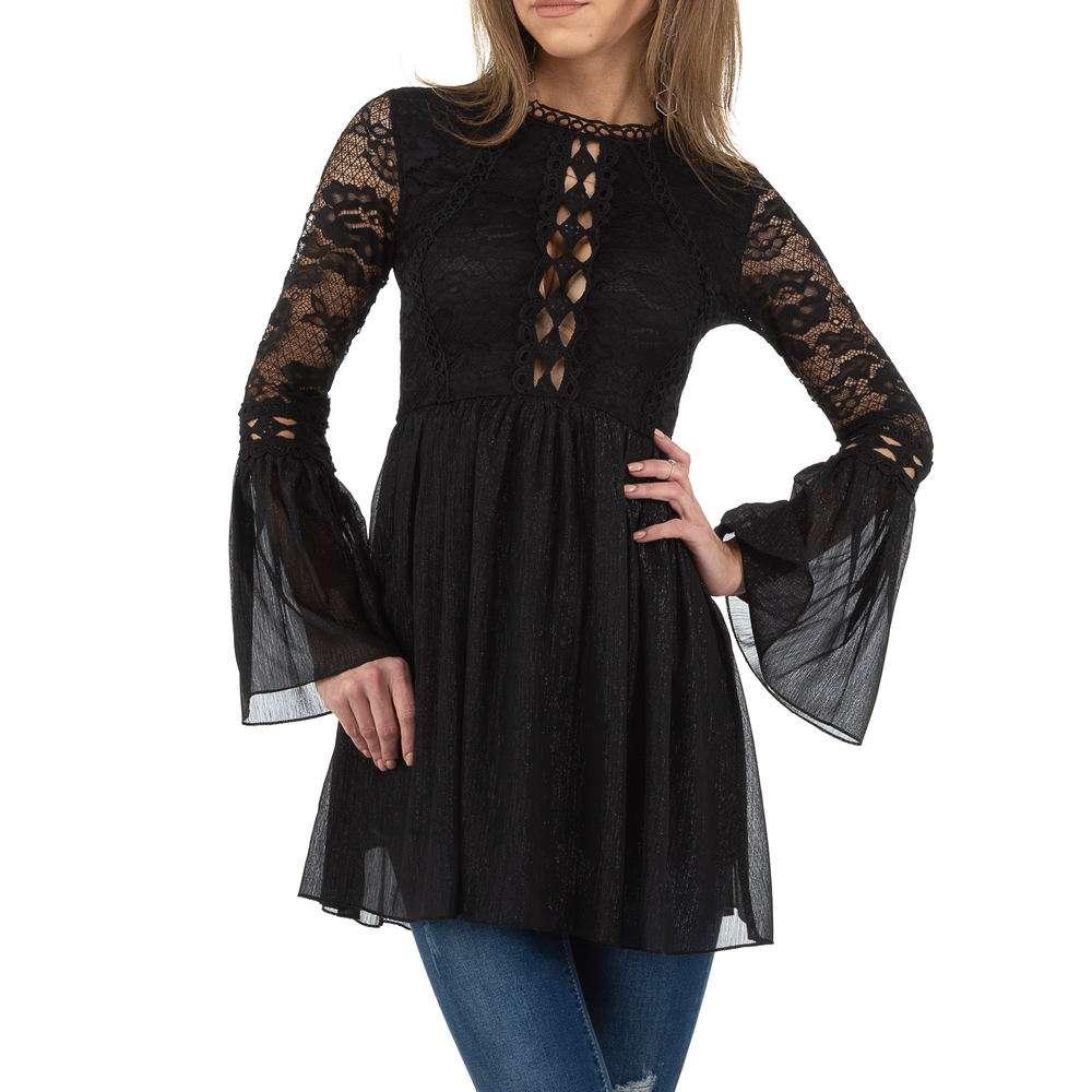 Bluză lungă de damă de Voyelles - neagră
