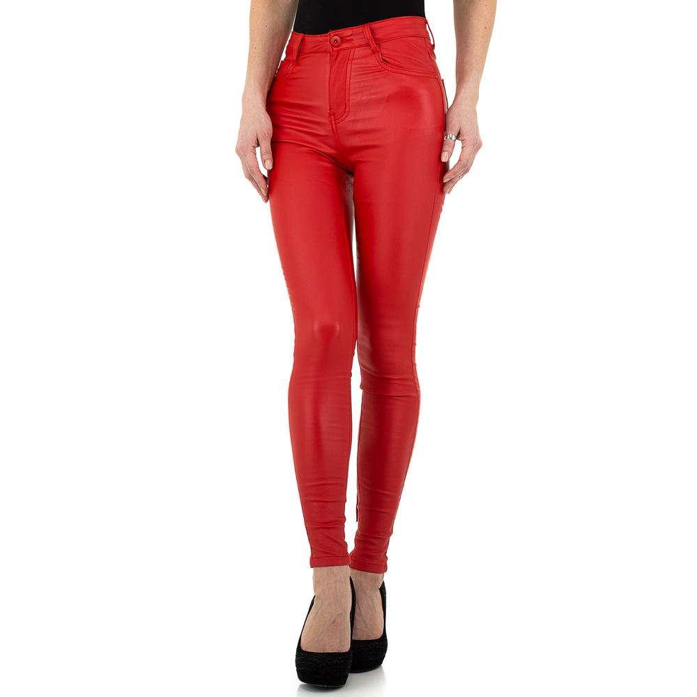 Pantaloni de dama de la Naumy Jeans - rosii