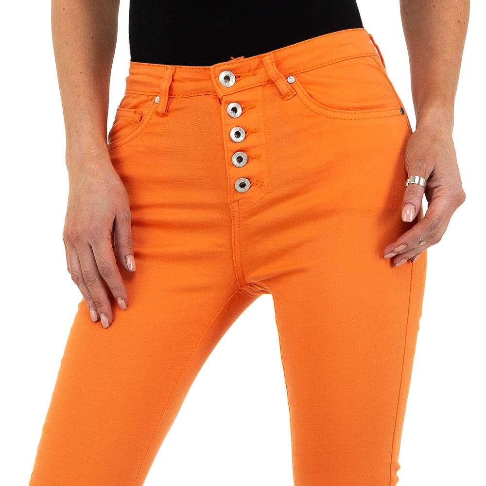 Blugi de dama de la Nina Carter - portocaliu - image 4