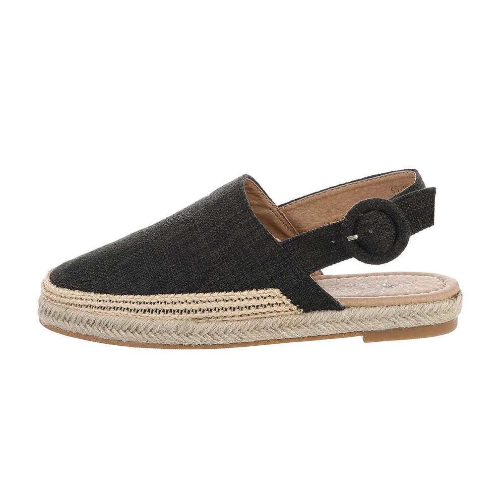 Sandale plate pentru femei - negre
