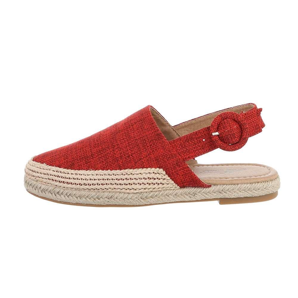 Sandale plate pentru femei - roșii