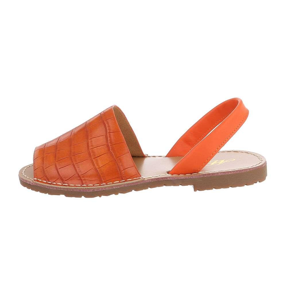Sandale plate pentru femei - portocalii - image 1
