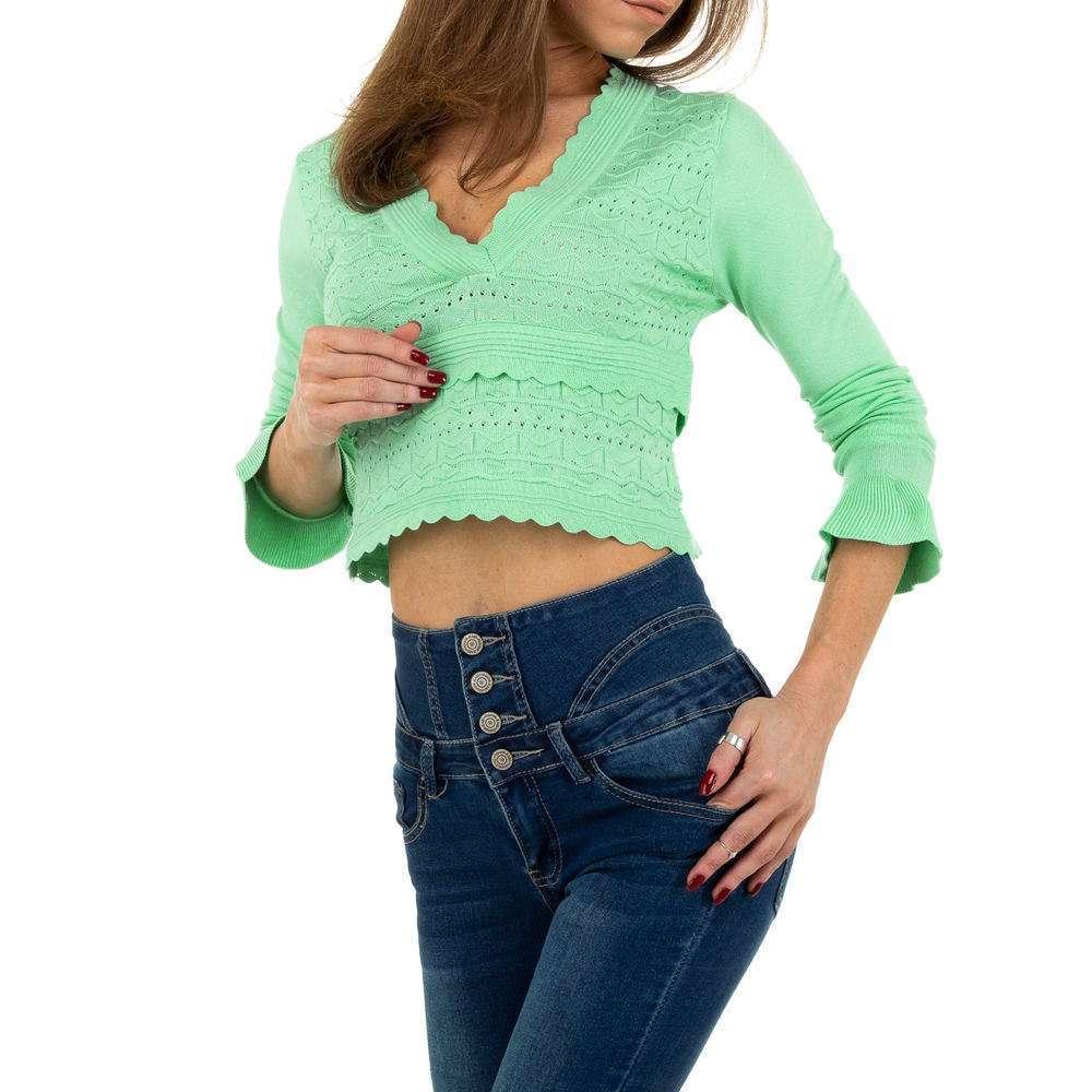 Pulover pentru femei de Emma% 26Ashley Design - turcoaz - image 4