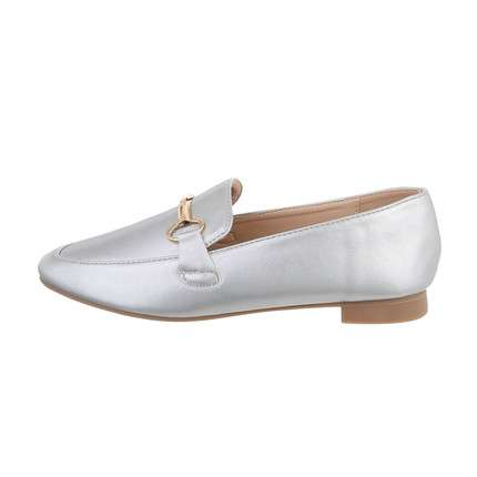 Damen Slipper - silver
