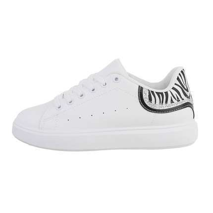 Damen Low-Sneakers - zebra