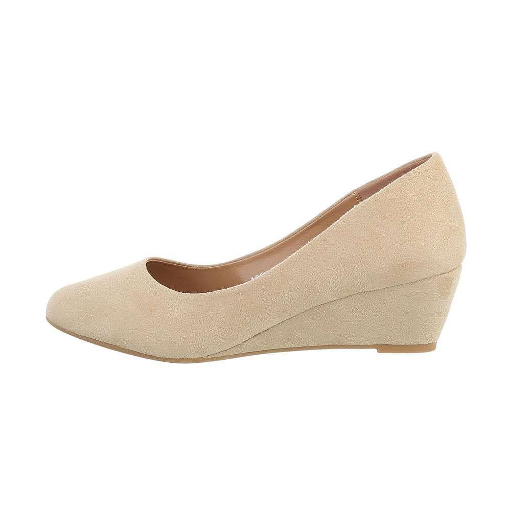 Pantofi cu platformă pentru femei - bej