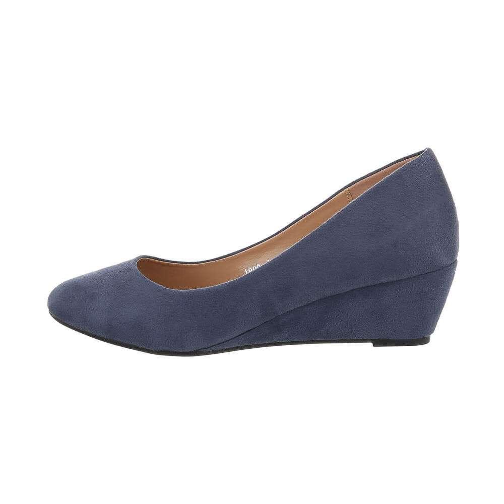 Pantofi cu platformă pentru femei - albastră
