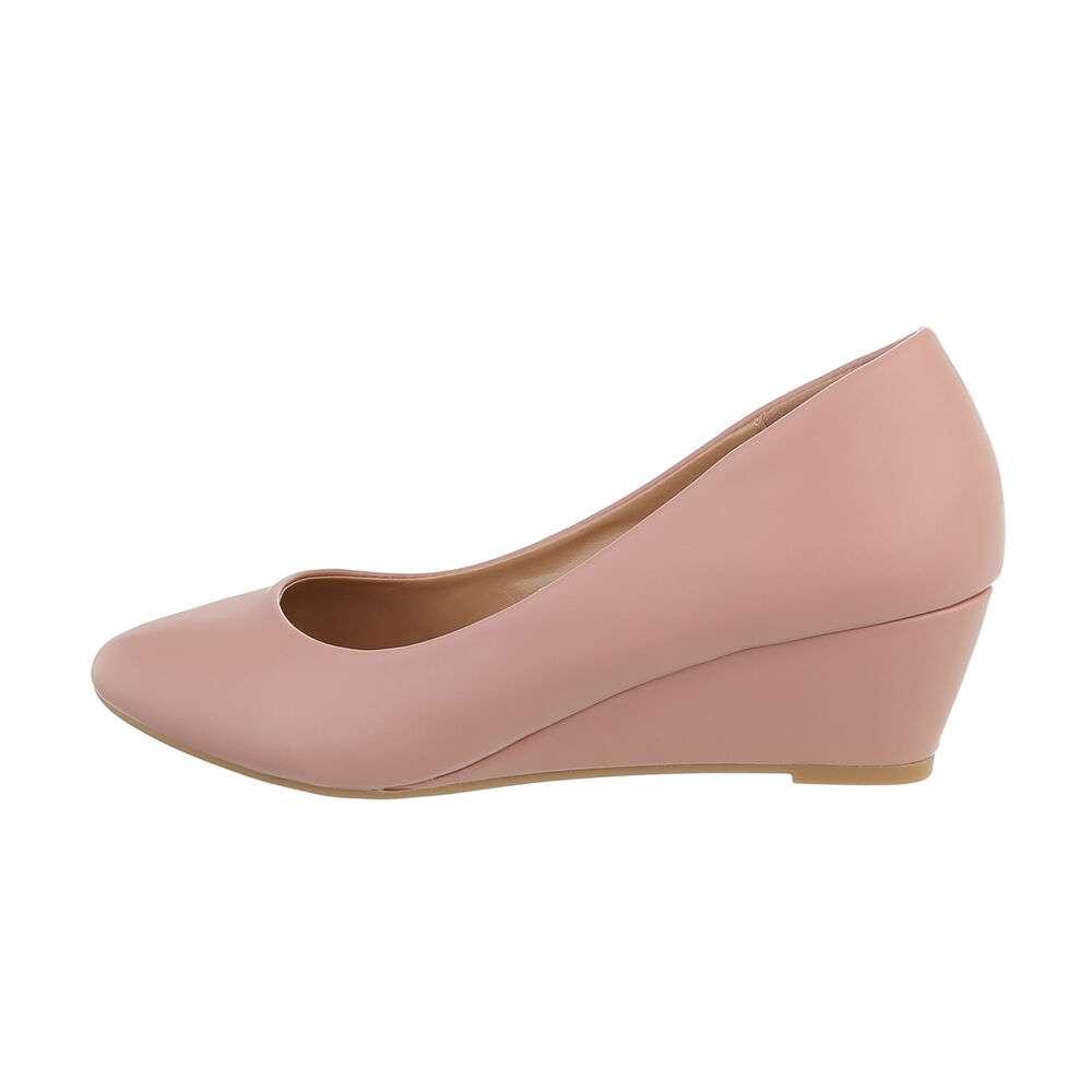 Pantofi cu platformă pentru femei - roz