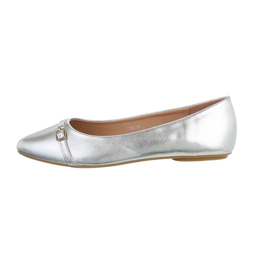 Damen Ballerinas - argintiu