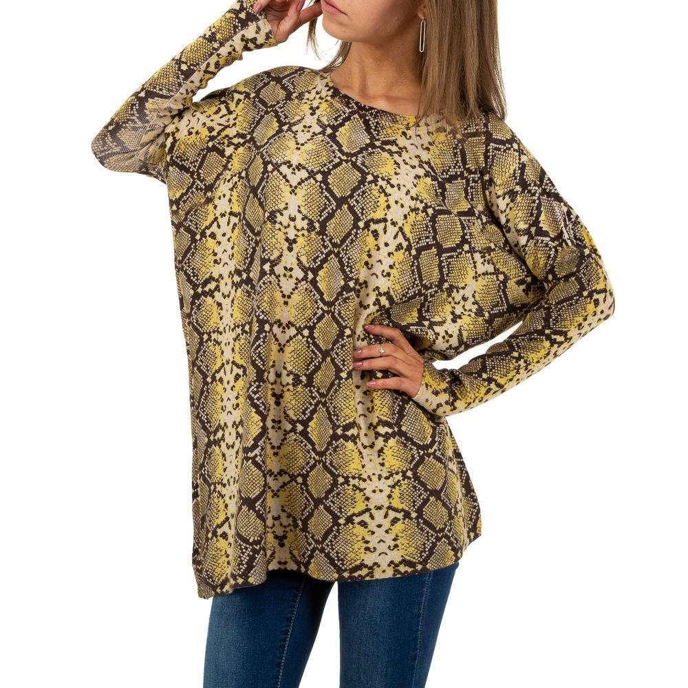 Pulover pentru femei by JCL Gr. O mărime - galben - image 1