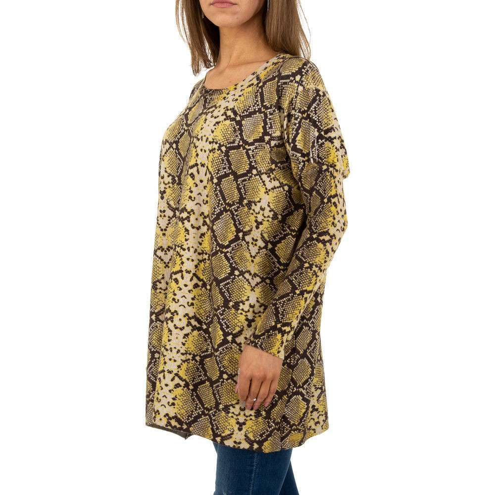 Pulover pentru femei by JCL Gr. O mărime - galben - image 2
