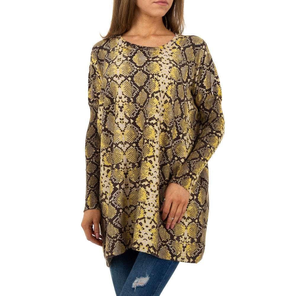 Pulover pentru femei by JCL Gr. O mărime - galben - image 5