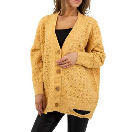 Damen StrickBlazer von JCL Gr. One Size - yellow