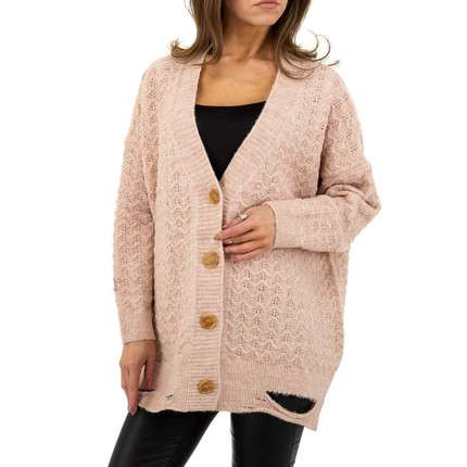 Damen StrickBlazer von JCL Gr. One Size - rose