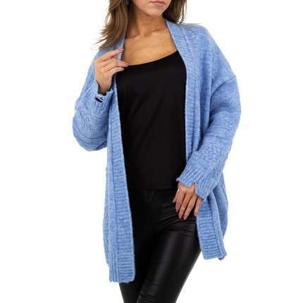 Damen StrickBlazer von JCL Gr. One Size - blue