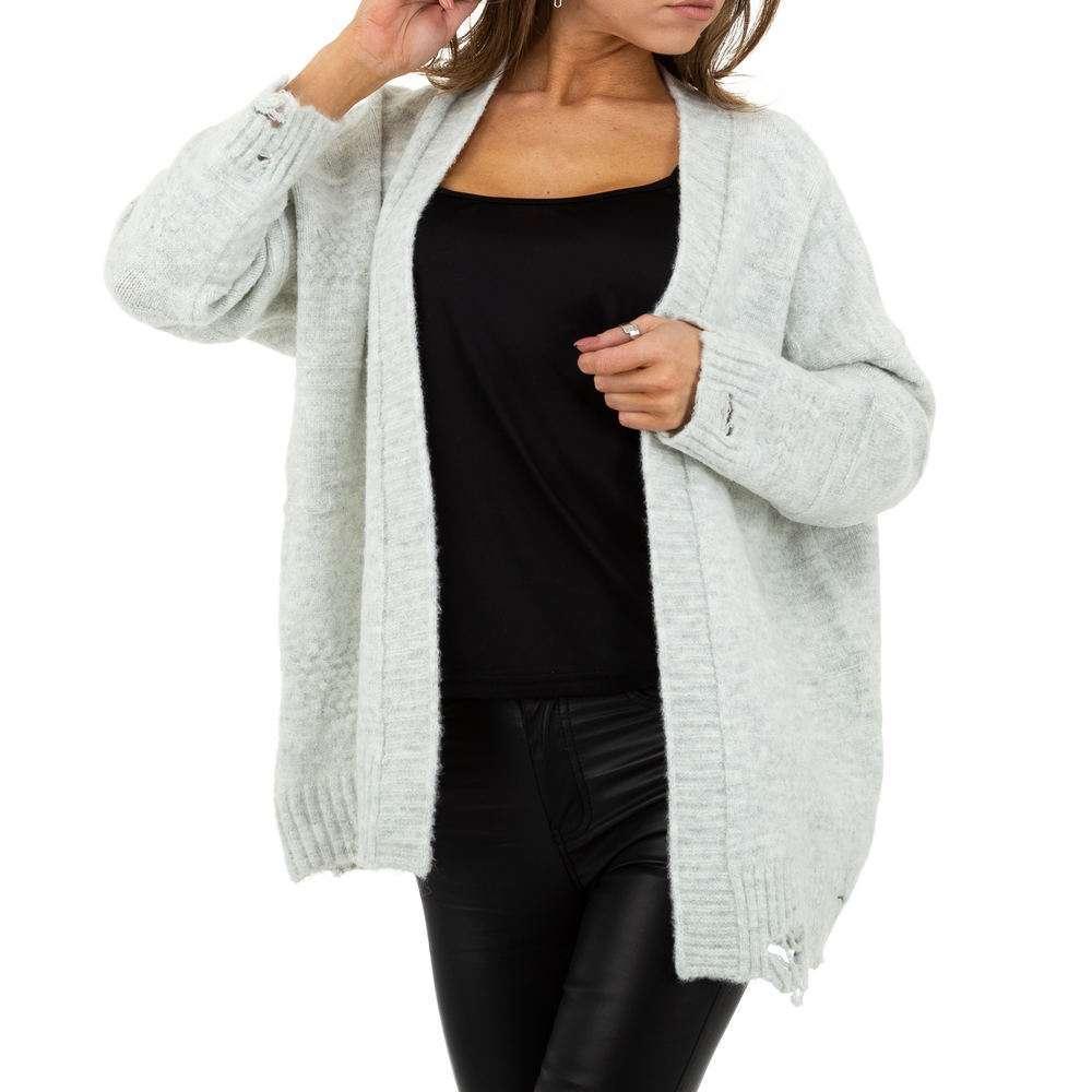 Sacou tricotat pentru femei de JCL Gr. O singură mărime - deschis gri - image 1