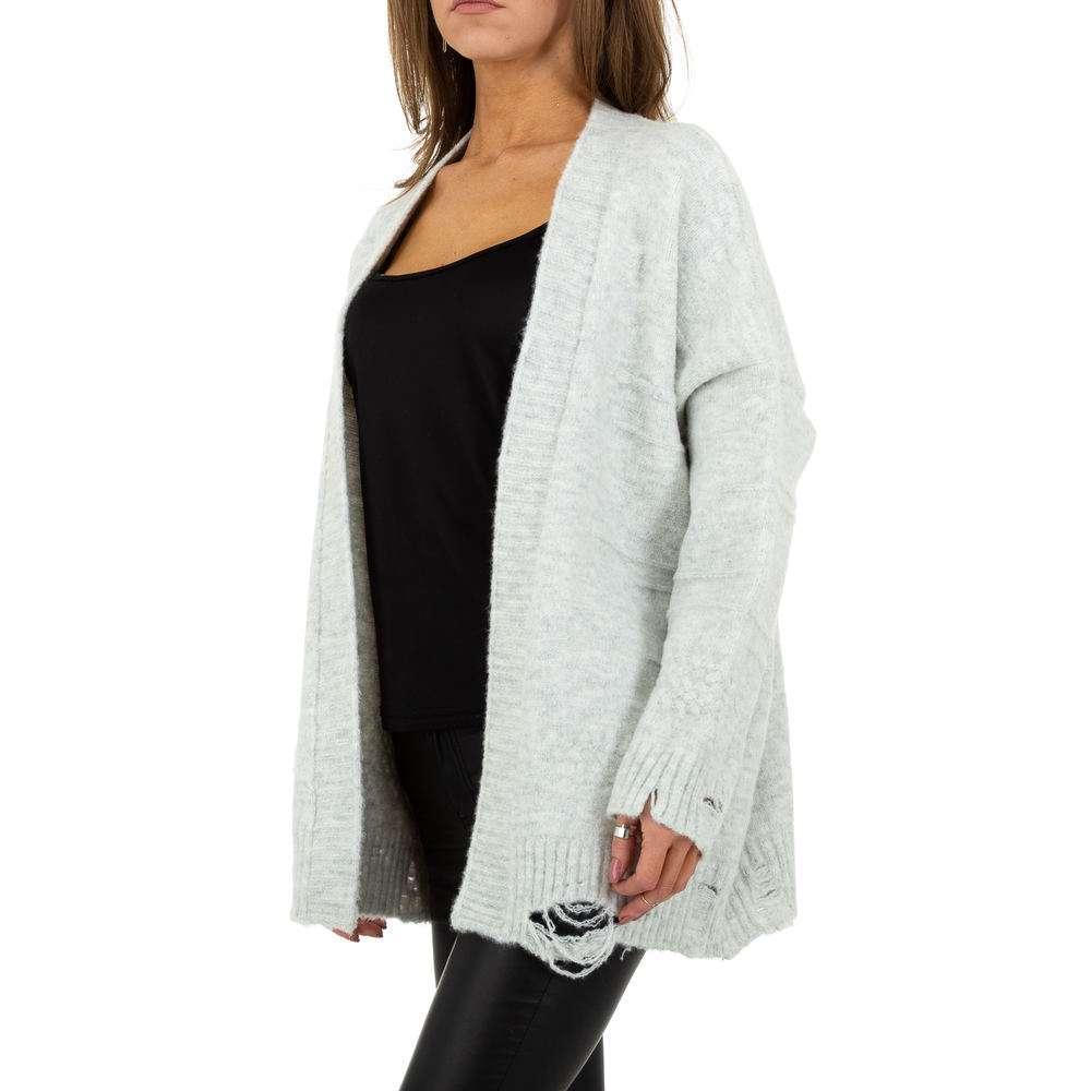 Sacou tricotat pentru femei de JCL Gr. O singură mărime - deschis gri - image 2