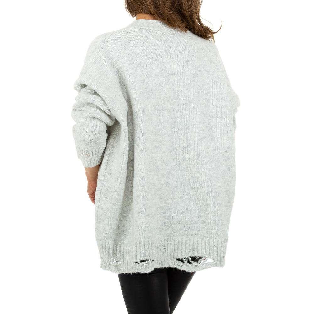 Sacou tricotat pentru femei de JCL Gr. O singură mărime - deschis gri - image 3