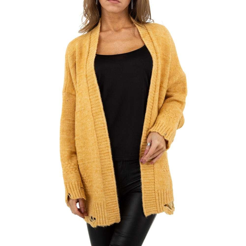 Sacou tricotat pentru femei de JCL Gr. O mărime - galben - image 1