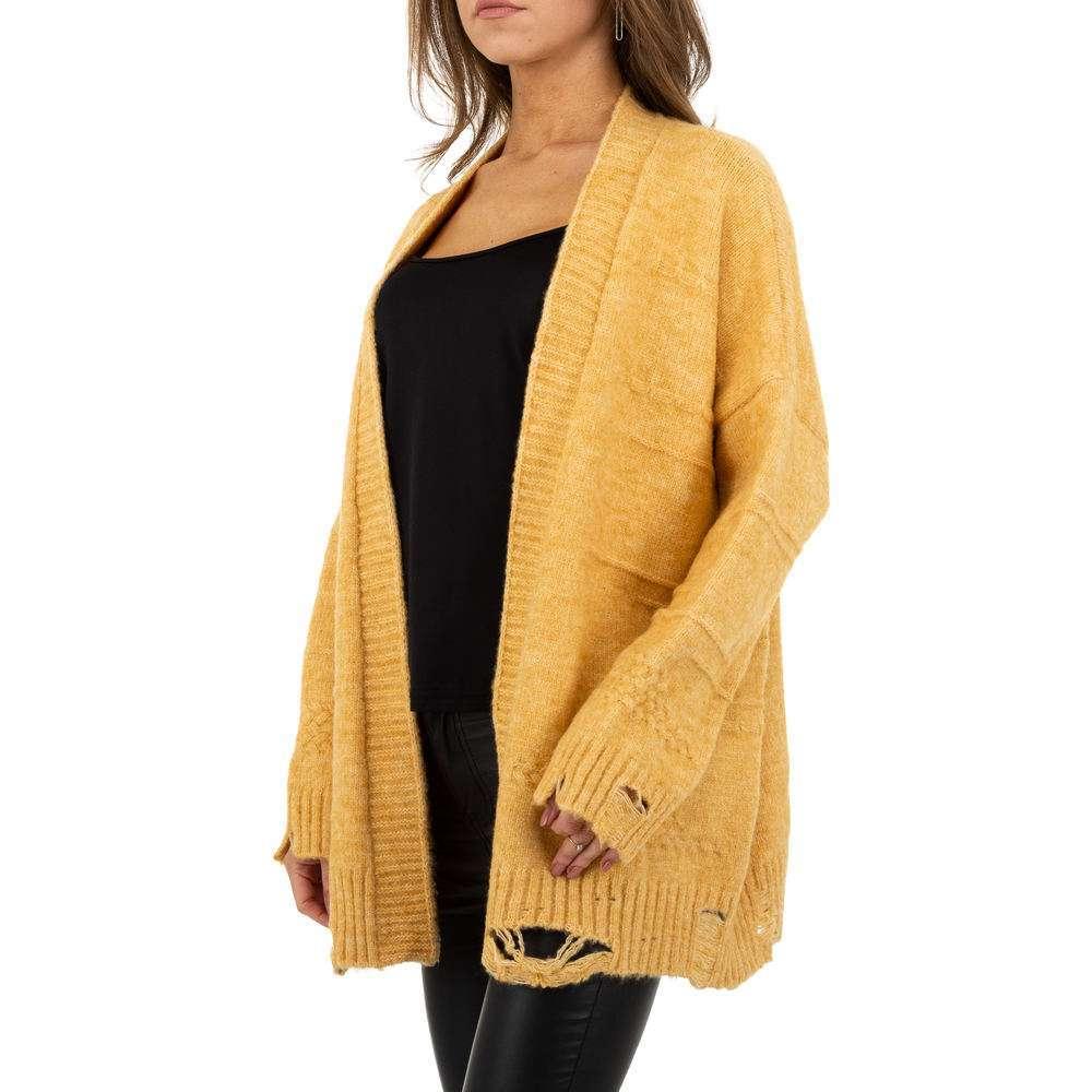 Sacou tricotat pentru femei de JCL Gr. O mărime - galben - image 2