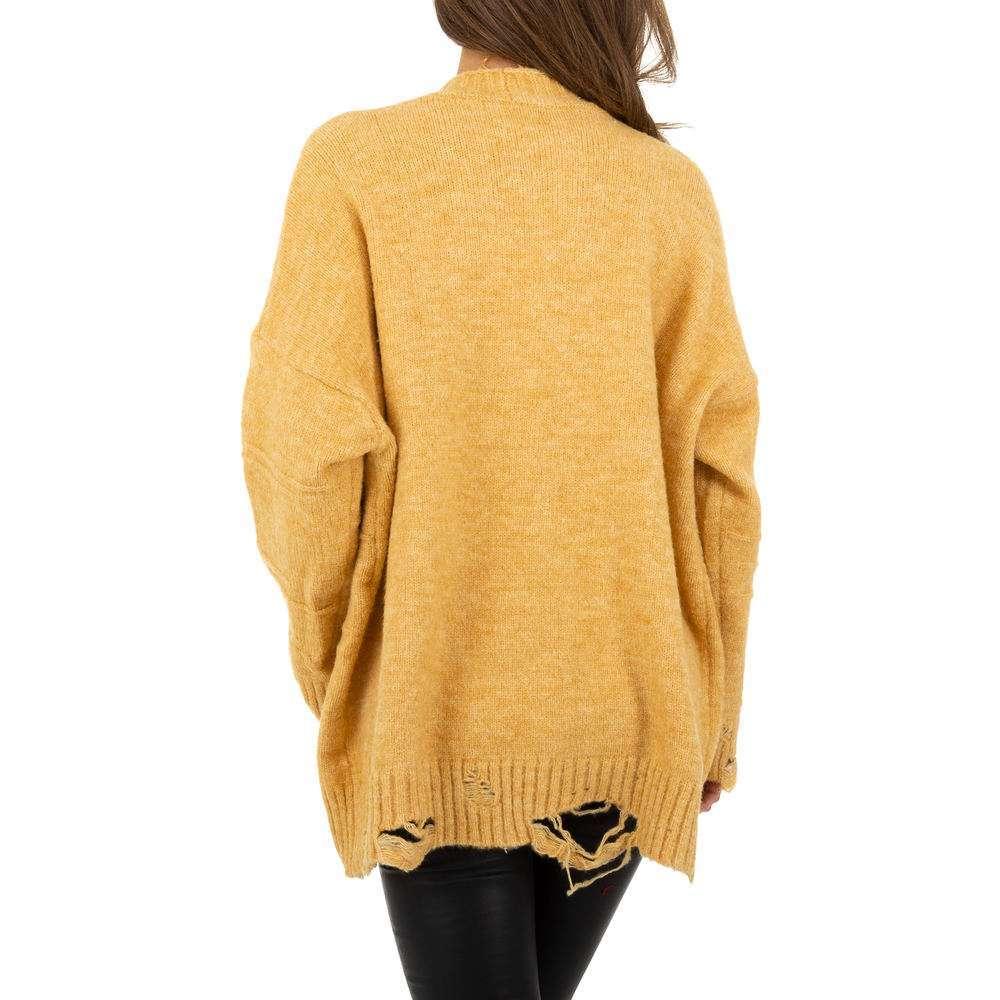 Sacou tricotat pentru femei de JCL Gr. O mărime - galben - image 3