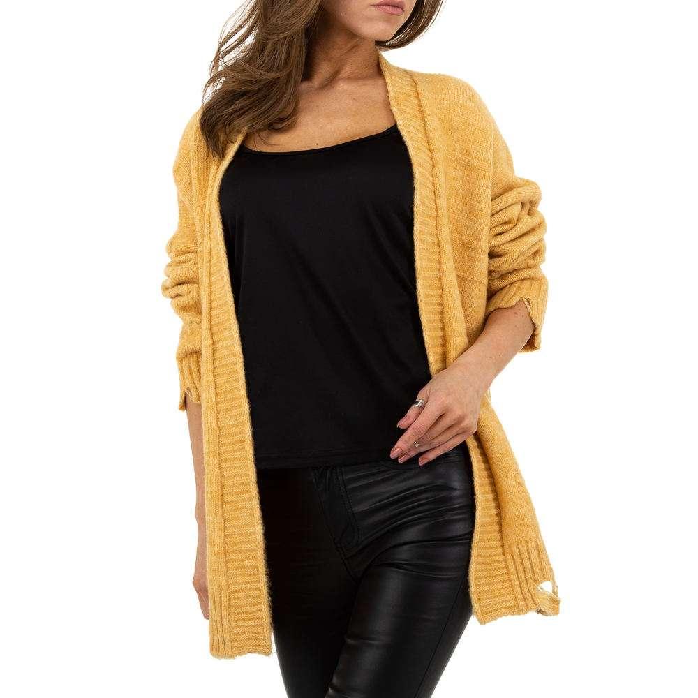 Sacou tricotat pentru femei de JCL Gr. O mărime - galben - image 4