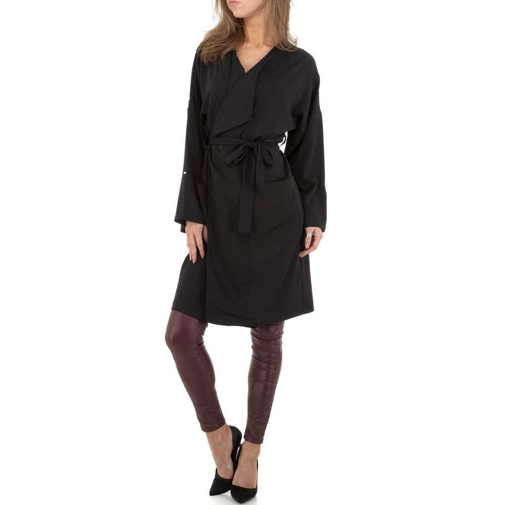 Palton pentru femei by JCL - negru