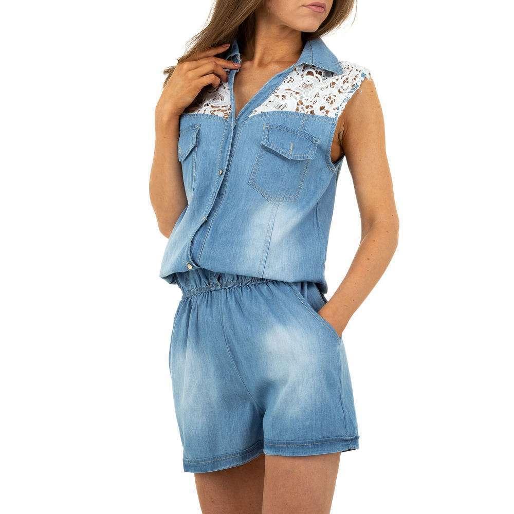 Pantaloni scurți din denimi pentru femei de M.Sara Denim - albastru