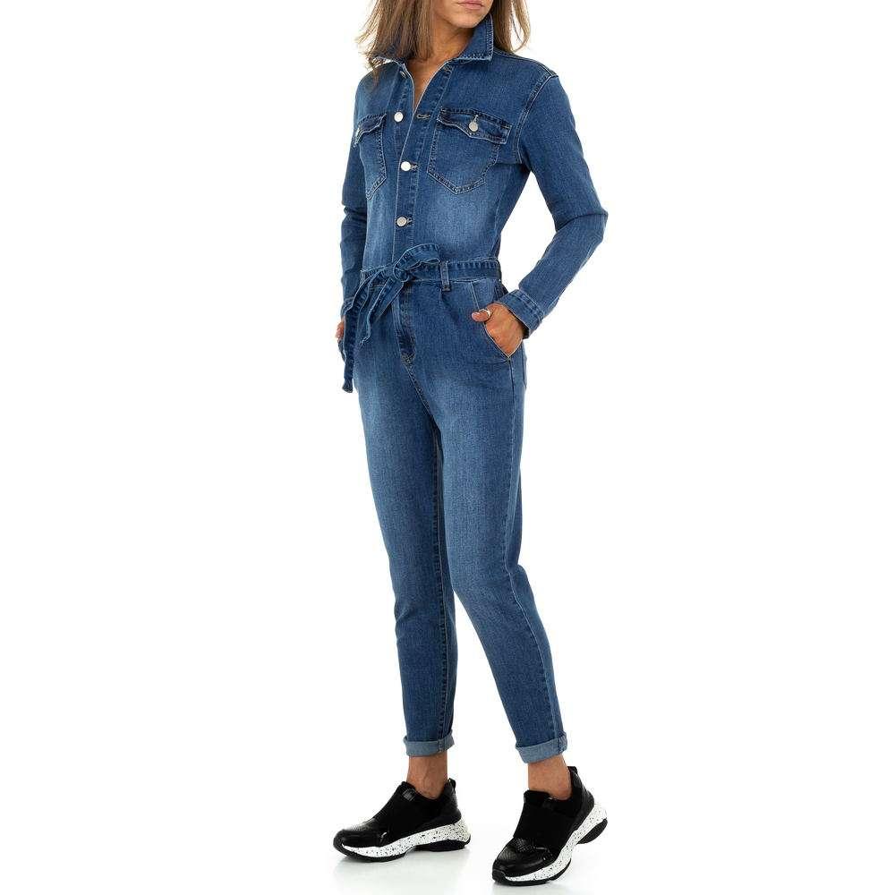 Pantaloni scurți din denimi pentru femei de M.Sara Denim - albastru - image 2