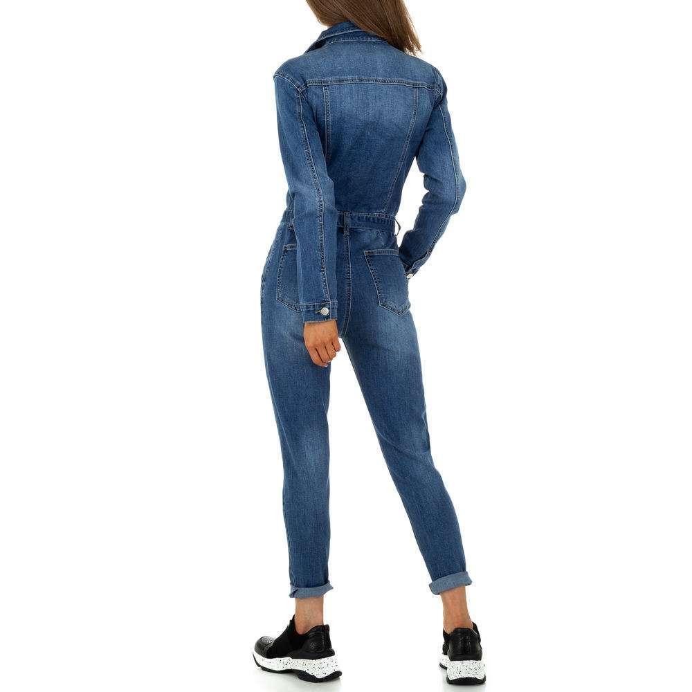 Pantaloni scurți din denimi pentru femei de M.Sara Denim - albastru - image 3