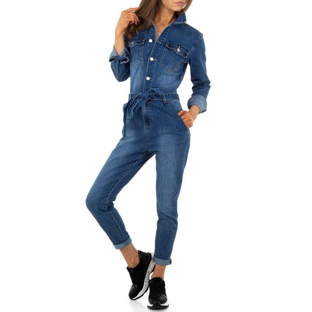 Pantaloni scurți din denimi pentru femei de M.Sara Denim - albastru - image 4