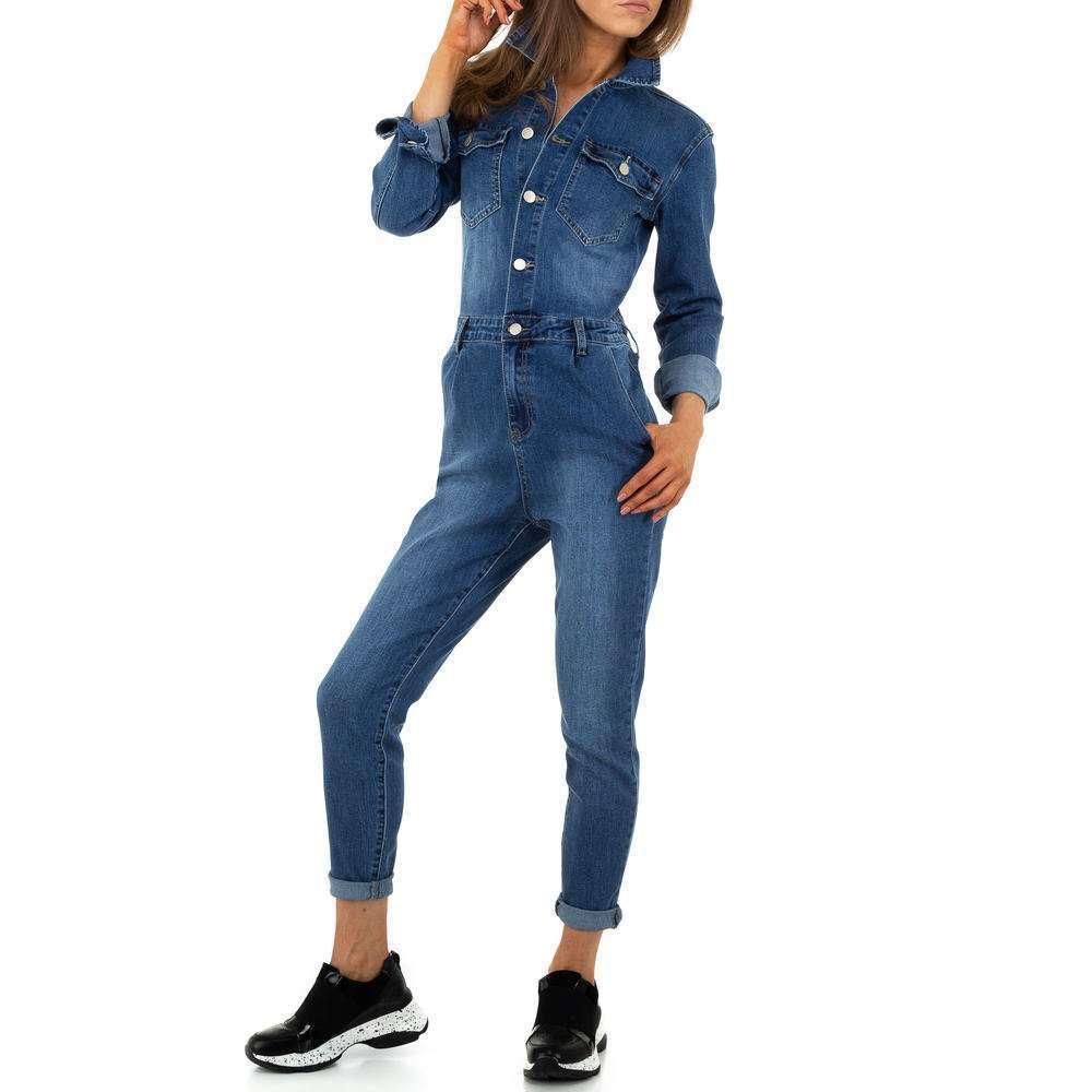 Pantaloni scurți din denimi pentru femei de M.Sara Denim - albastru - image 5