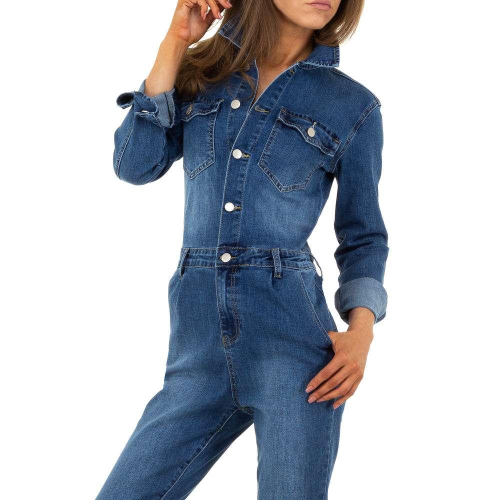 Pantaloni scurți din denimi pentru femei de M.Sara Denim - albastru - image 6
